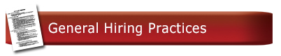 General Hiring Practices