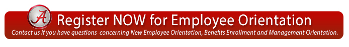 Click here to register for employee orientation.