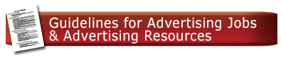 View UA's Guidelines for Advertising Jobs and Adv Resources