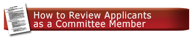 How to Review Applicants as a committee member