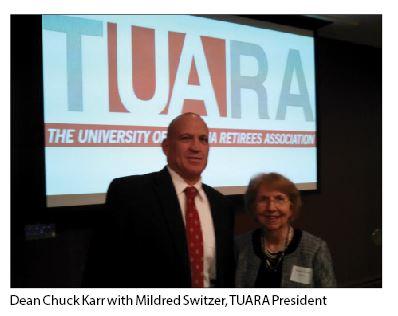 Dean Chuck Karr with Mildred Switzer, TAURA President