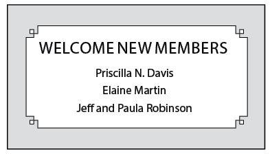 New Members Fall 2014
