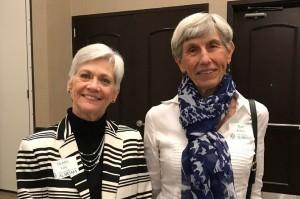 New executive board members Deborah Lane (left) and Ruth Roberts