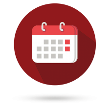 Calendar with red background