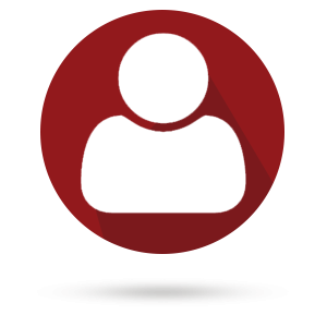 Logo of a person with a red background